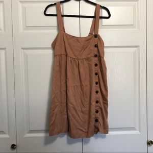 Urban outfitters tan overall Button front dress M